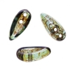 Preciosa Chilli Beads 4X11mm Crystal Green Luster